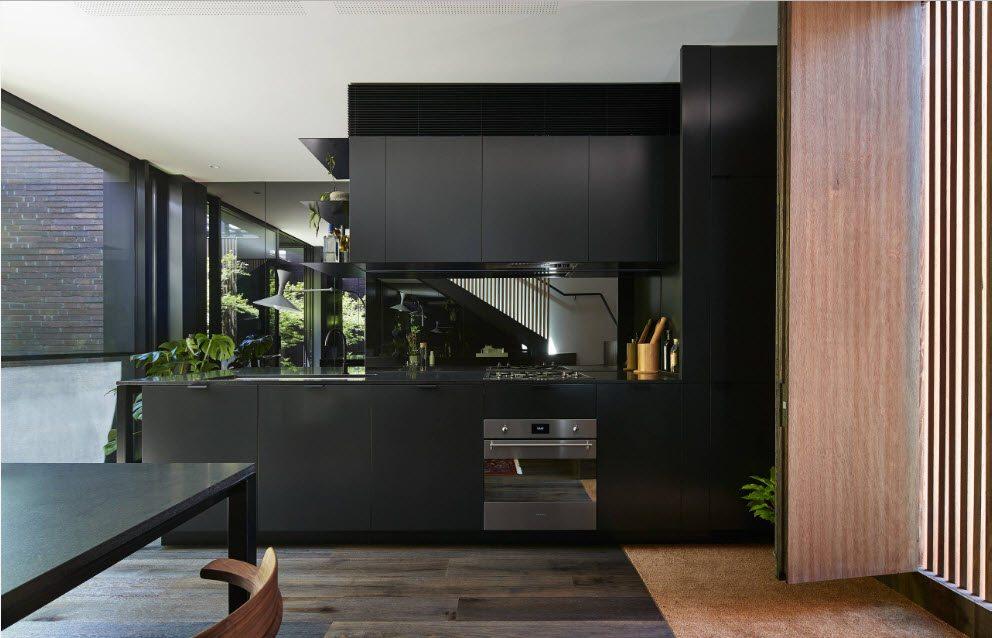 Зеркало в кухонном интерьере…