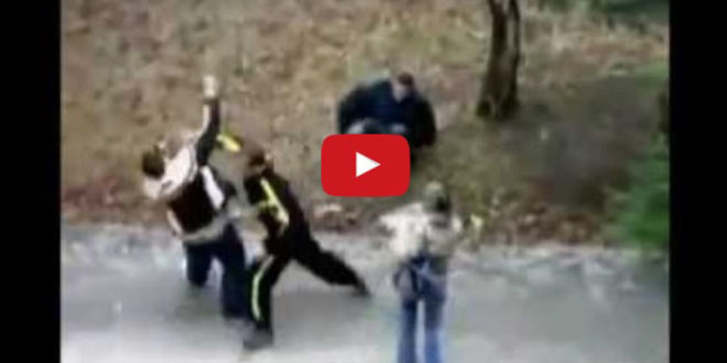 Эти гопники обидели его девушку, но парень на их беду оказался спортсменом