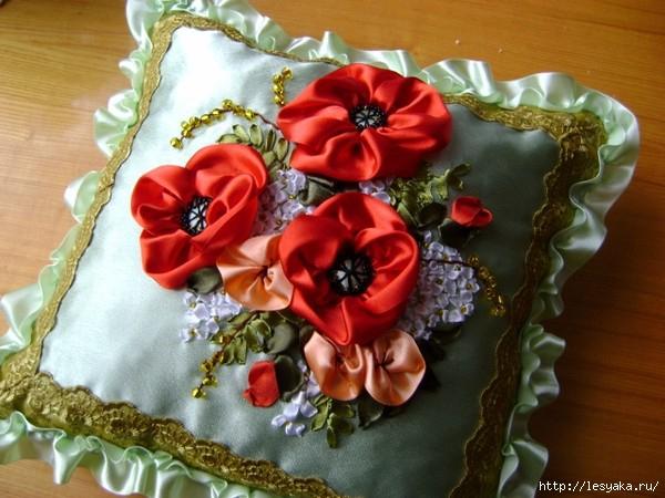 Наволочка «Цветочная поляна» своими руками + идеи для декора