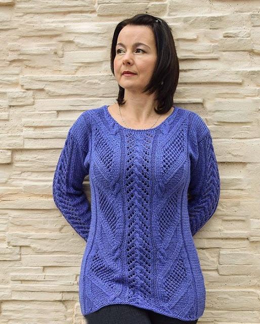 Удлиненный пуловер красивым …