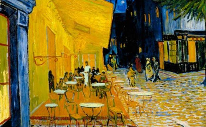 Терраса кафе ночью. Ван Гог.