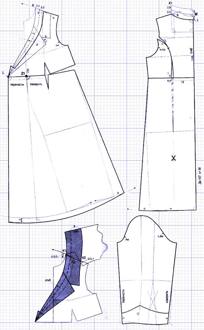 Схема выкройки кардигана - стиль бохо