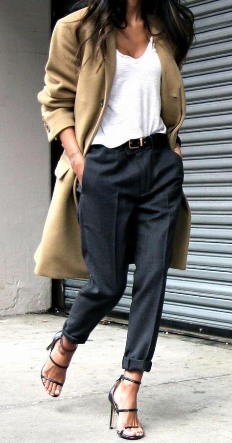 Отдельно с брюками можно создать массу разных look'ов: от кэжуал до классики