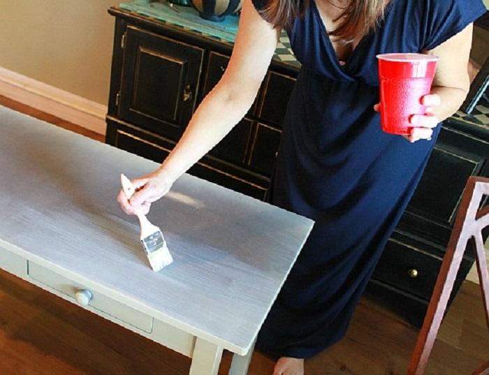 Я просто обклеила стол бумагой, а муж решил, что купила новый: фото результата для дома и дачи,мастер-класс