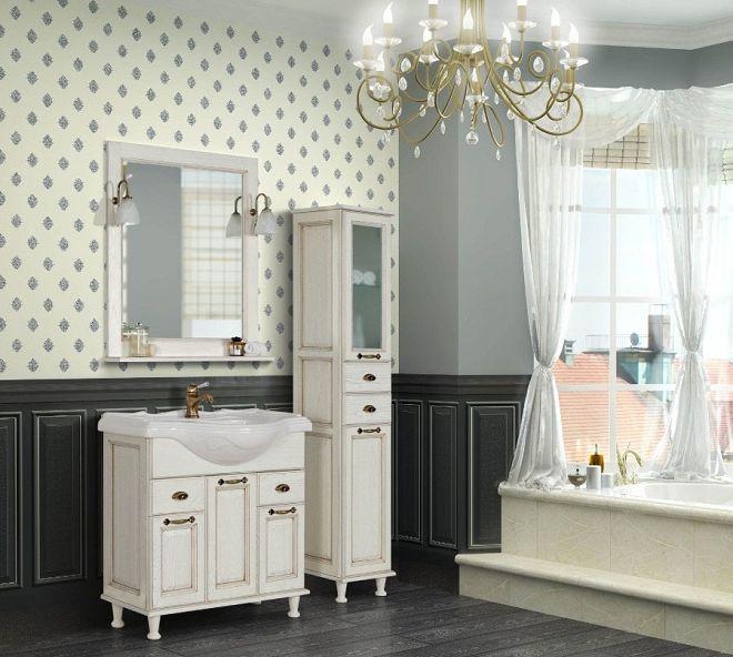 мебель для ванной комнаты в английском стиле