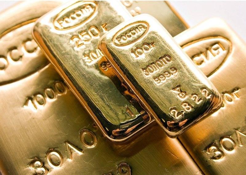 Россия вышла на пятое место в мировом рейтинге по запасу золота