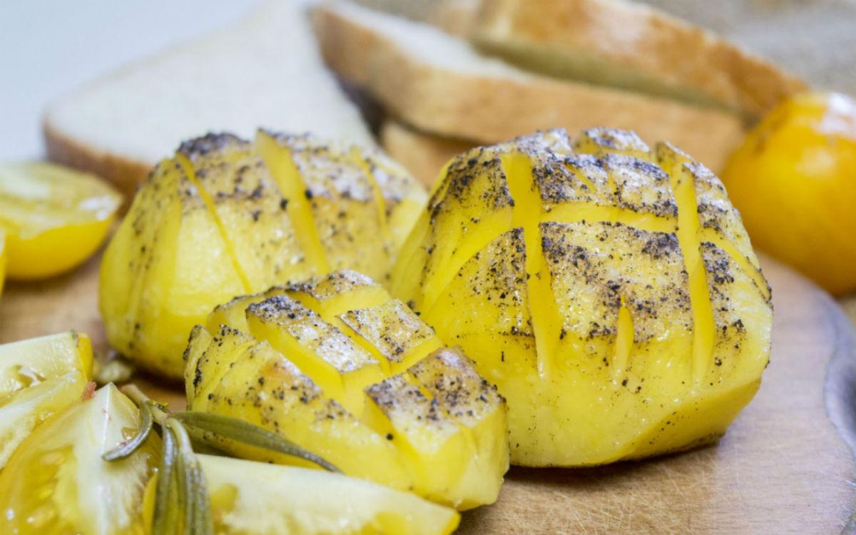 картошка с перцем
