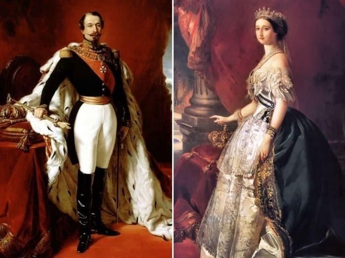 Наполеон III и Евгения. Автор: Франц Ксавер Винтерхальтер.