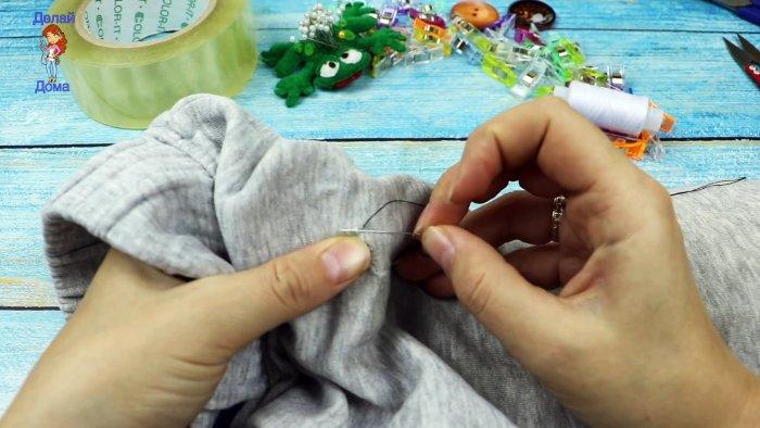 Как зашить дырку аккуратно потайным швом, даже если вы держите иголку первый раз в жизни мастер-класс,шитье