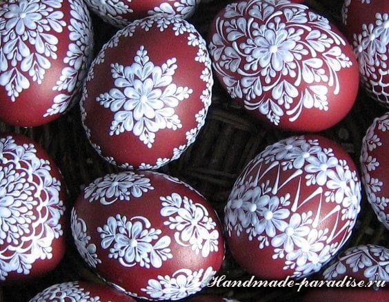 Как расписать яйца воском (шаблоны росписи). Роспись пасхальных яиц воском (описание процесса)