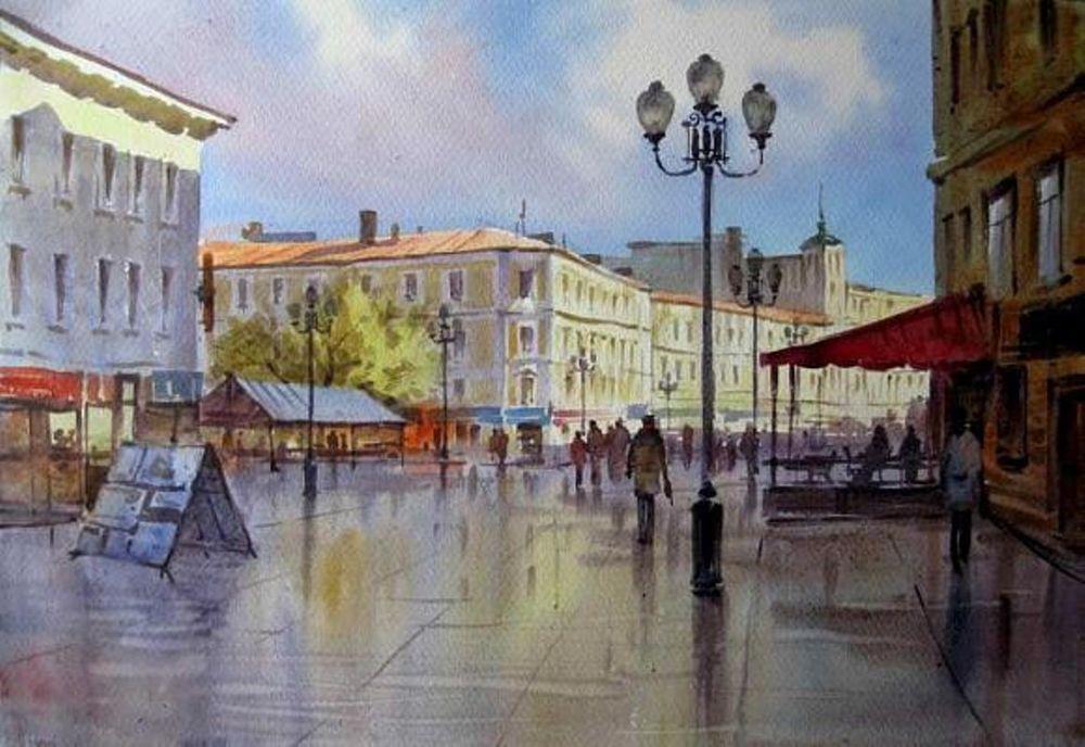 Акварельные пейзажи художника Ильи Горгоца, фото № 22