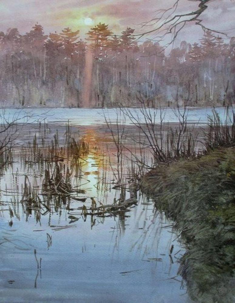 Акварельные пейзажи художника Ильи Горгоца, фото № 29