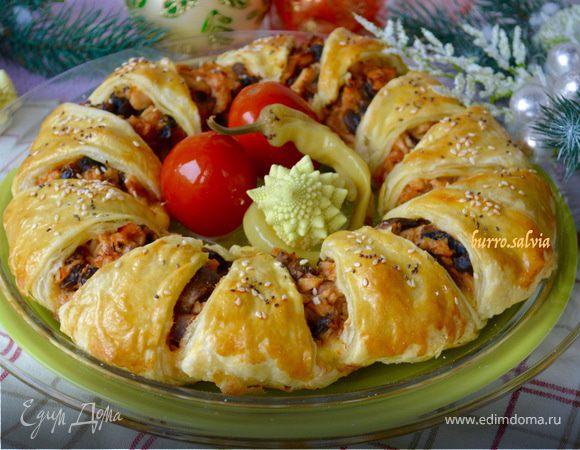 Пирог с курицей к Новогоднему столу!