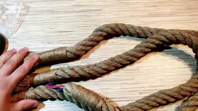 Плетем настоящий канат, выдерживающий сотни килограмм как заплести канат,канат,огонь,сплетение каната,Тренинг