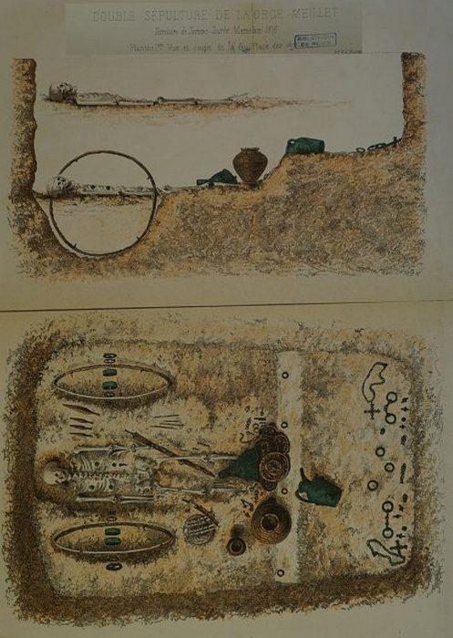 Иллюстрация погребенной колесницы