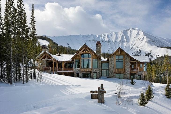 Роскошный дом из натуральных…