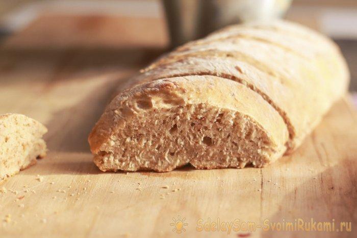 Рецепт быстрого бездрожжевого хлеба