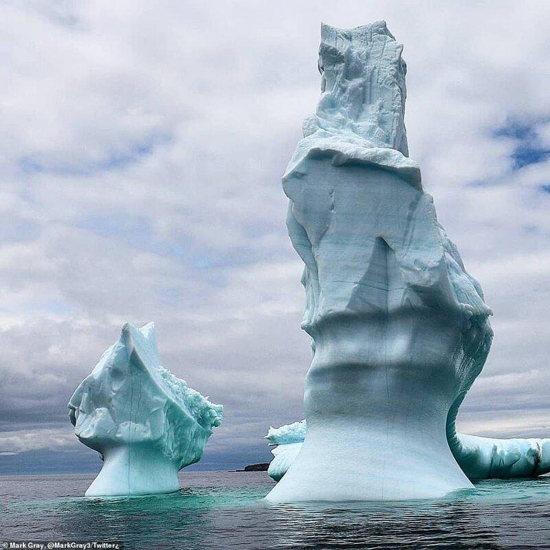 Как выглядит шествие айсбергов по Лабрадорскому морю айсберг, айсберги, аллея, вот это да!, канада, лабрадор, лед тронулся, природа