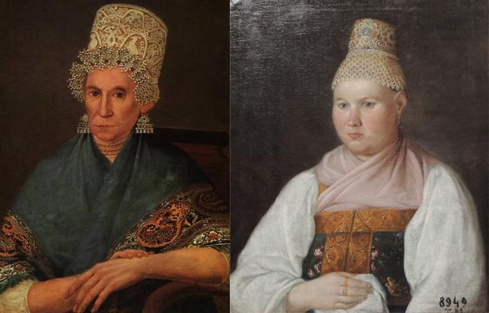 Портрет пожилой купчихи. Портрет Ямщиковой, жены ржевского купца из рода Ямщиковых.