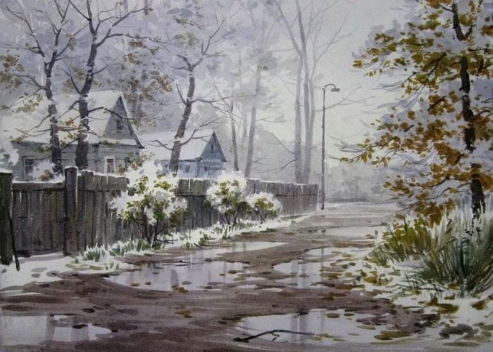 Акварельные пейзажи художника Ильи Горгоца, фото № 25