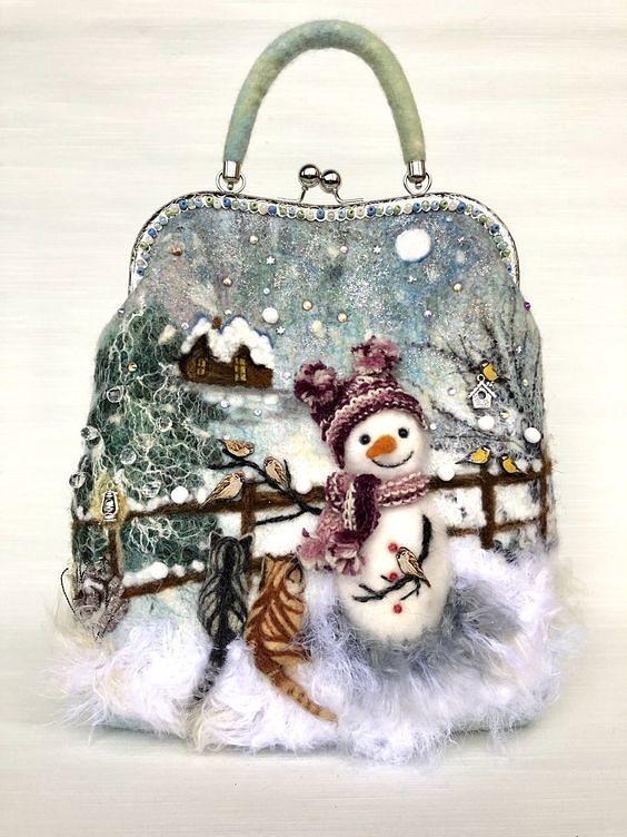 Сумочки с зимним настроением сделай сам,сумки