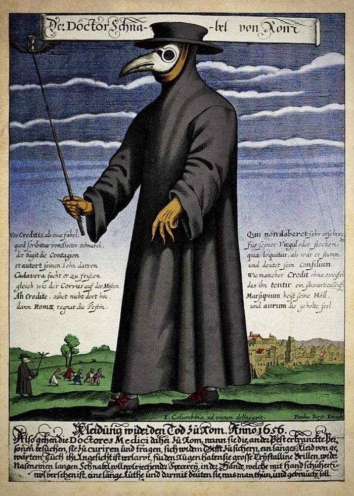 Костюм чумного доктора: как его придумали и почему он так выглядит загадки,история,курьезы,мир,тайны