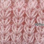 Симпатичные колоски из вытянутых петель спицами