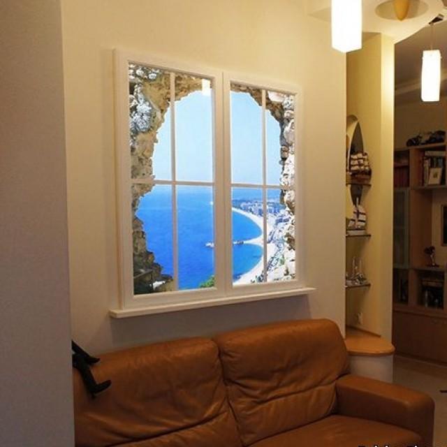 Ниша вместо окна на даче фото
