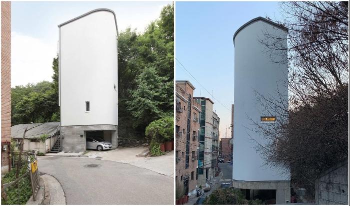 Корейский архитектор умудрился построить 5-этажный дом на площади всего 20 кв. м архитектура,ремонт и строительство