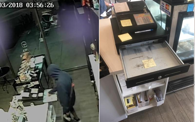 «Денег нет. Иди к чёрту»: Вор пытался ограбить кафе, но нашёл дерзкую записку