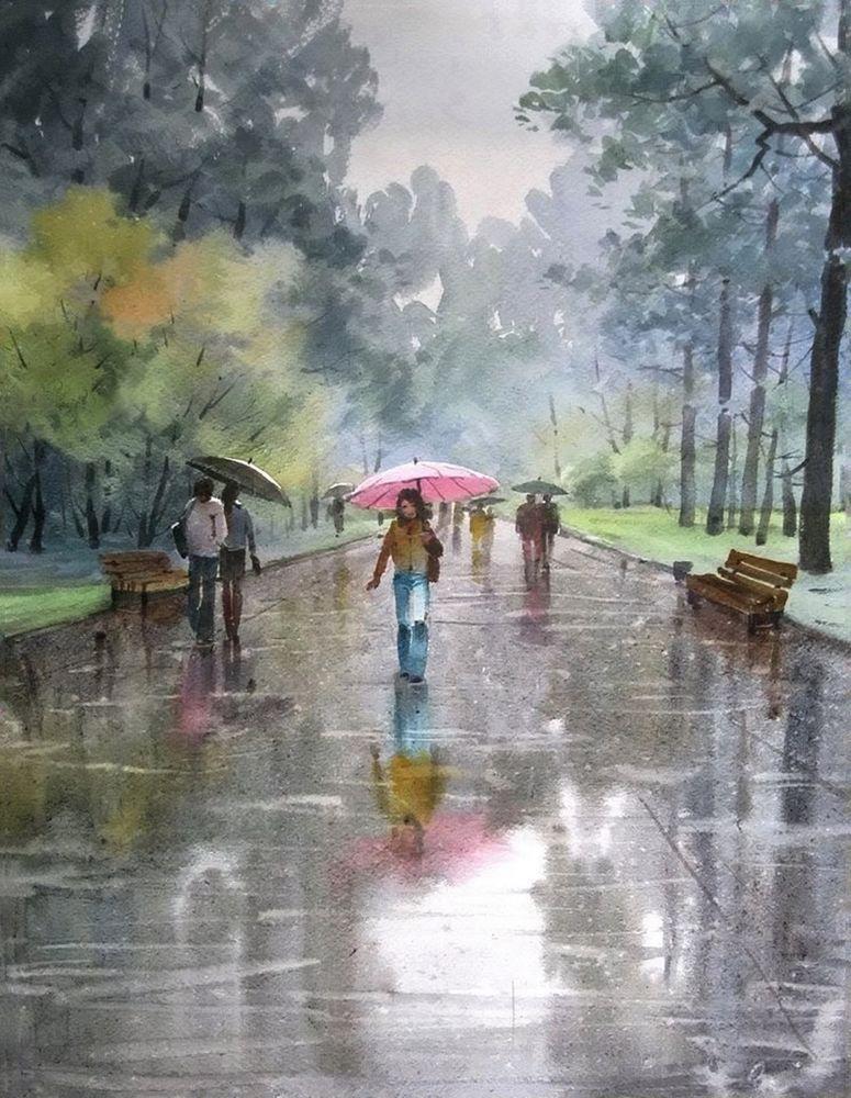Акварельные пейзажи художника Ильи Горгоца, фото № 5
