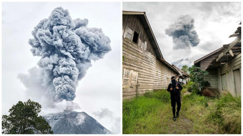 Деревни-призраки по соседству с действующим вулканом Синабунг