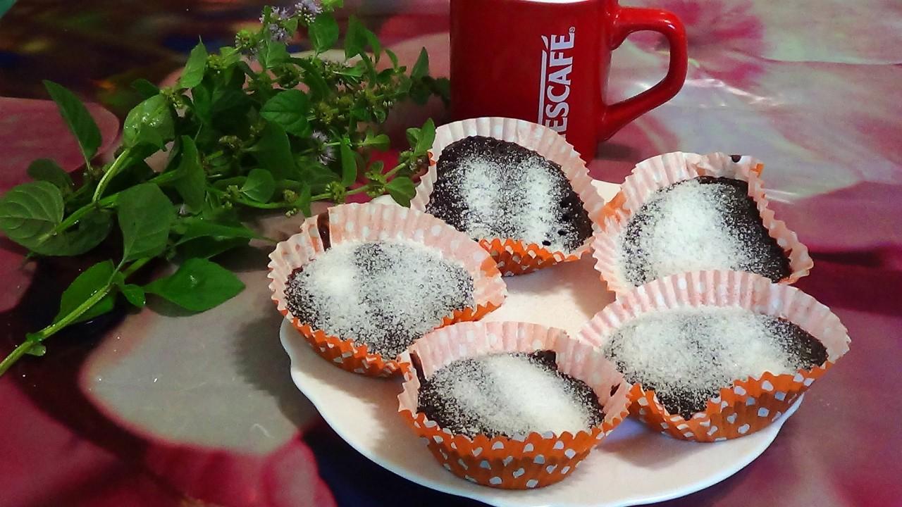 Низкокалорийные шоколадные кексы за одну минуту
