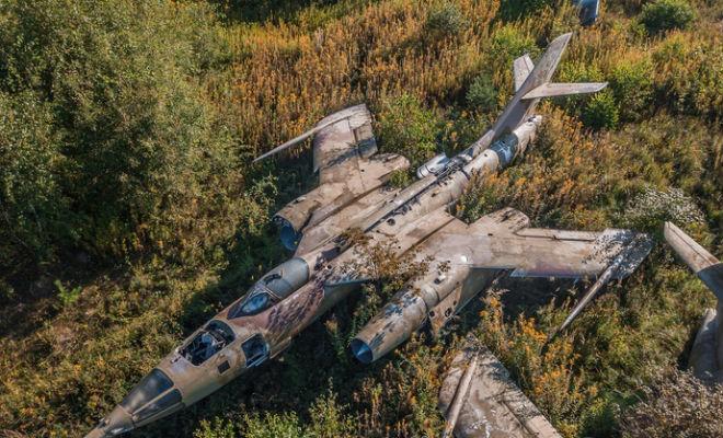 Сверхзвуковые Як-28 заросшие дереьвями Культура