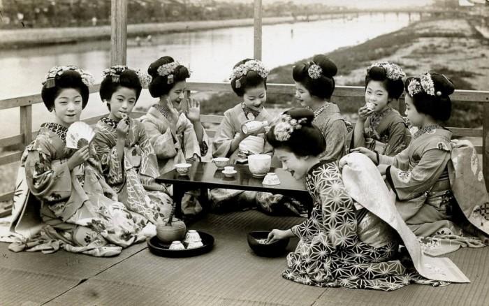 Юные майко Киото, 1920 год