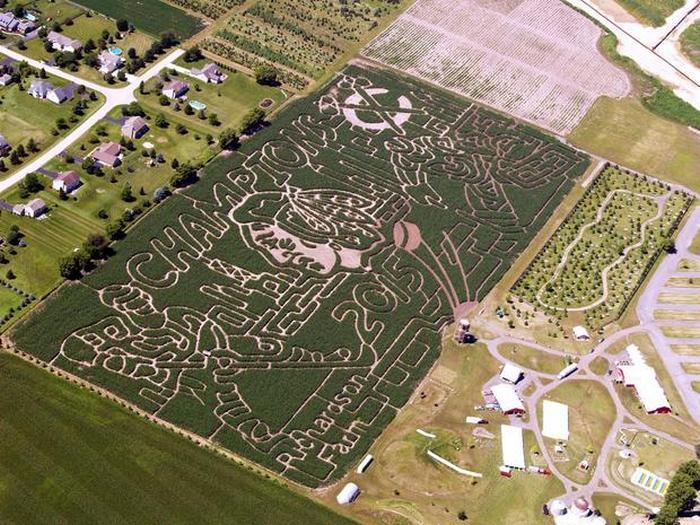 Кукурузный лабиринт на ферме Ричардсон (Спринг Грув, Иллинойс).