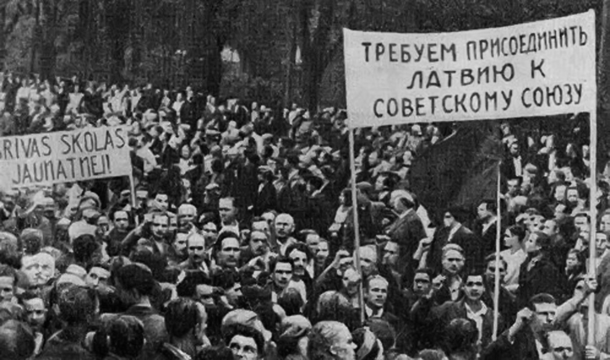 "Латвия: ""Мы, латыши, гордый …"
