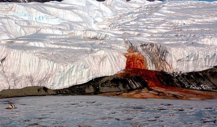 В Антарктиде есть водопад. Кровавый водопад Антарктика, антарктида, интересно, ледяной континент, познавательно, секреты Антарктики, удивительно, факты