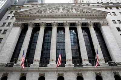 The front facade of the New York Stock Exchange (NYSE) is seen in New York, U.S., February 12, 2021. REUTERS/Brendan McDermid