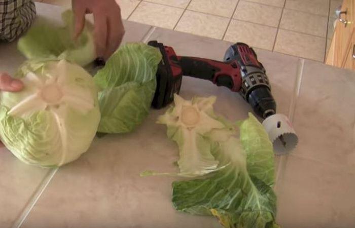 Способ приготовления голубцов с использованием шуруповерта