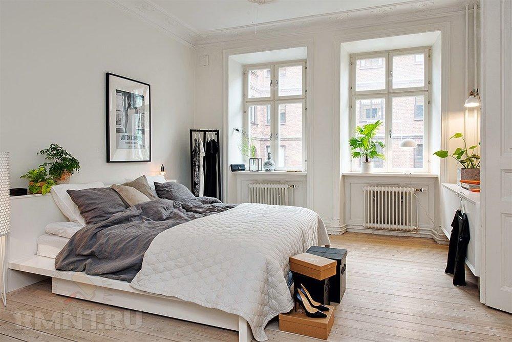 Фотоподборка спален в скандинавском стиле