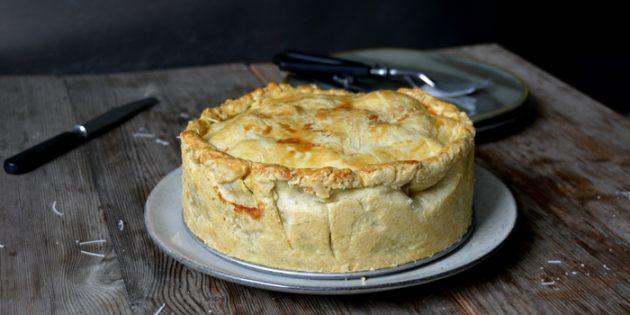 Рецепт пирога с мясом и яблоками