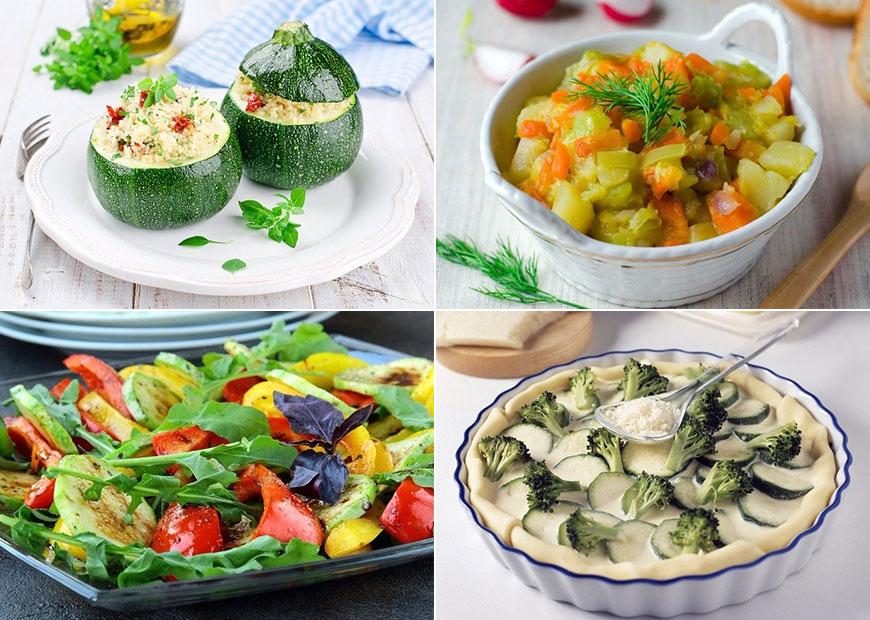 Блюда из овощей - наилучшие рецепты из вкусных кабачков