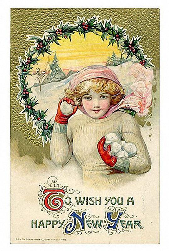 Американская открытки с новым годам, смешного спанч боба
