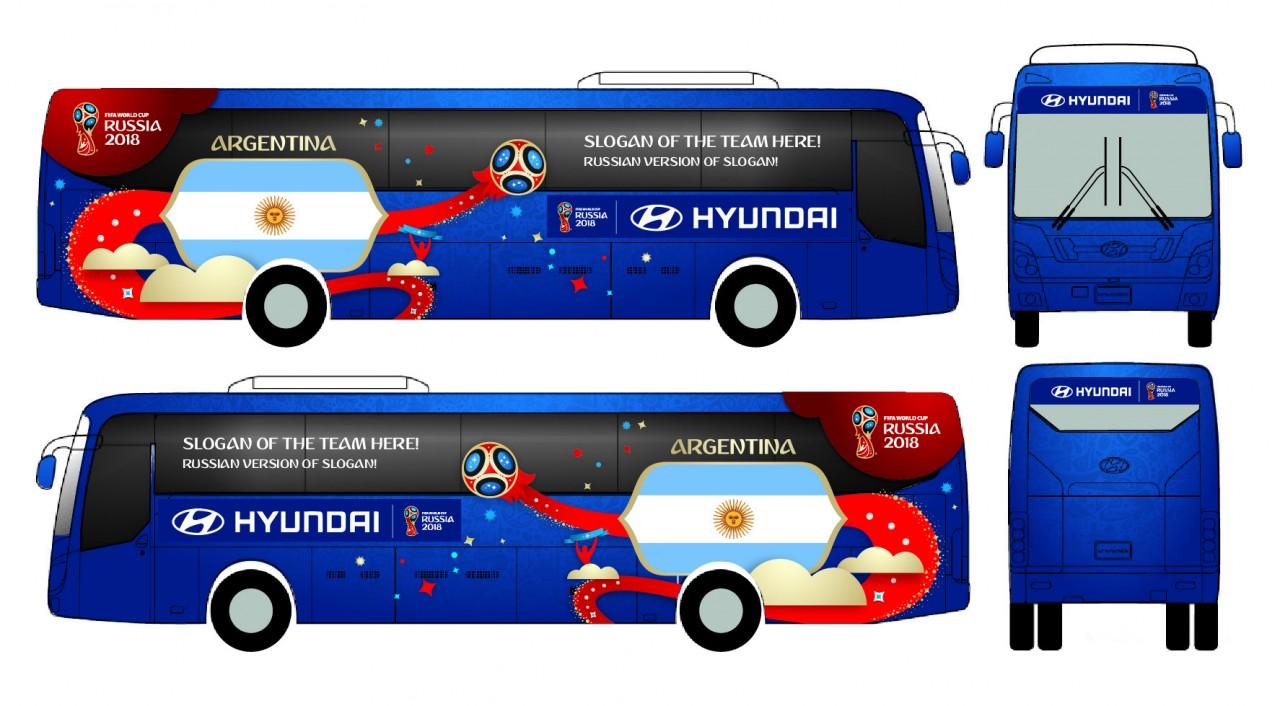 Hyundai показала дизайн автобусов для ЧМ по футболу в России