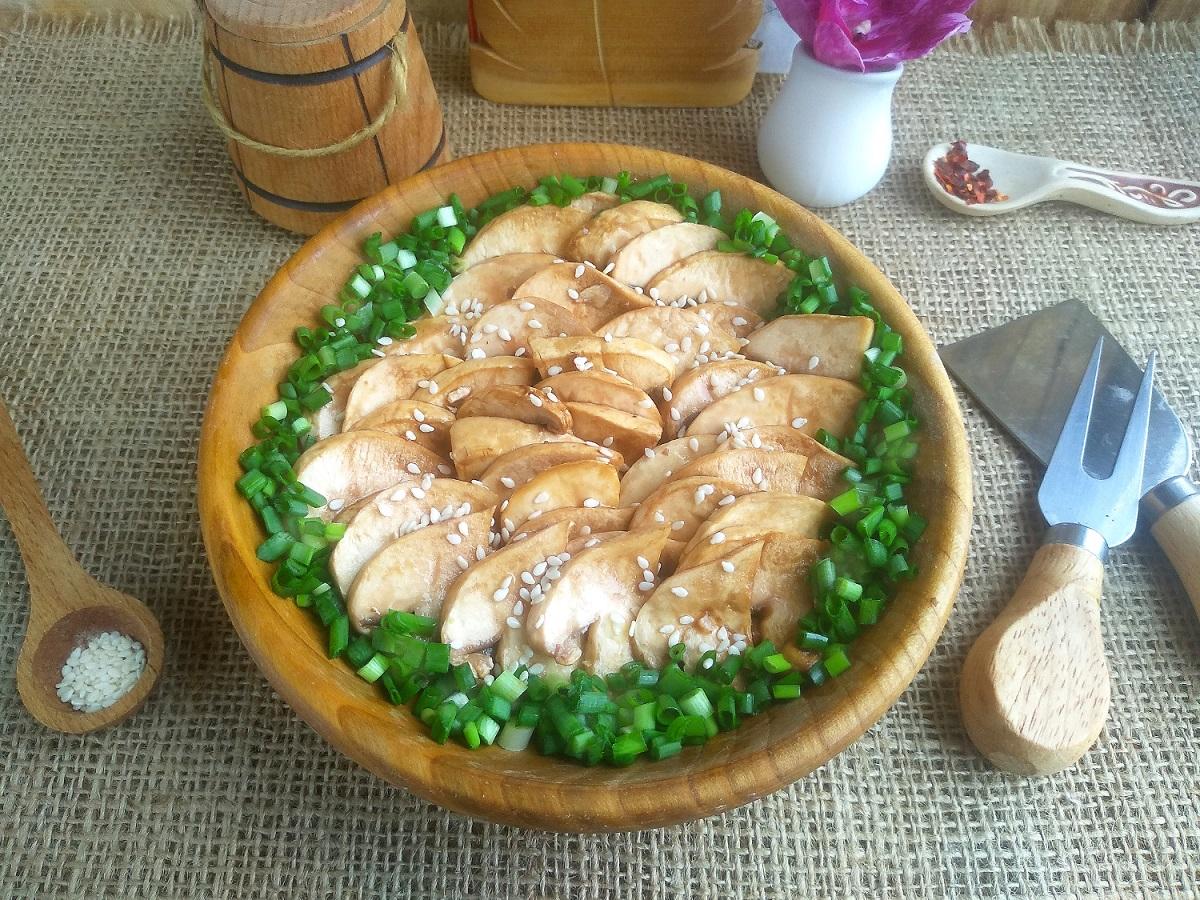 Шампиньоны в соевом соусе — пикантная и аппетитная закуска закуски,кухни мира