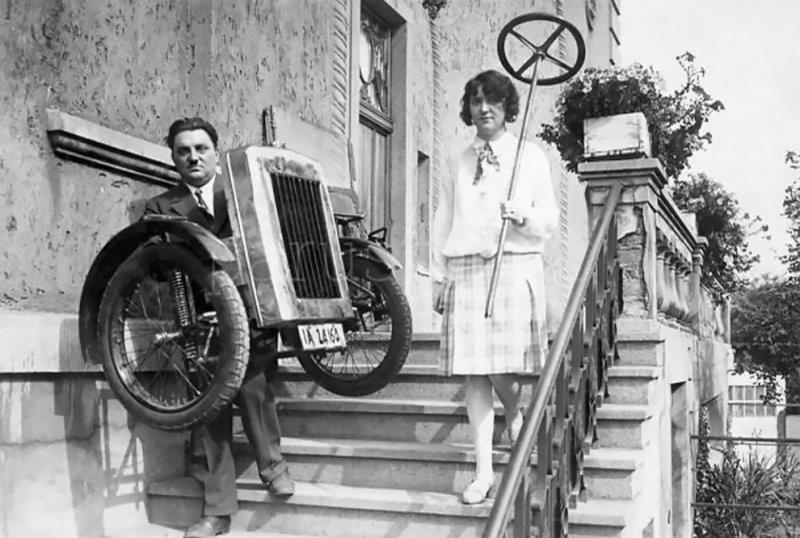 Zaschka Three Wheeler: первая вмире складная машина