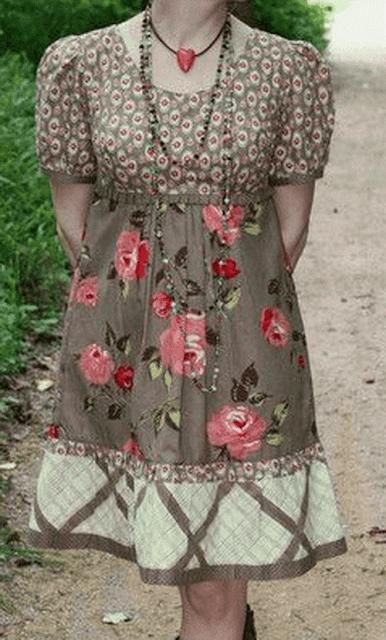 Выкройка платья с завышенной талией