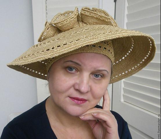 Вязаная шляпка Людмилы Орешкиной - рукоделие, вязание