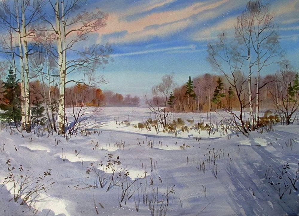 Акварельные пейзажи художника Ильи Горгоца, фото № 46
